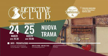 Detective Club. Nuova trama inedita!