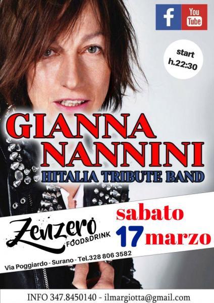 Gianna Nannini Tribute - 17 marzo @Zenzero Food & Drink Surano