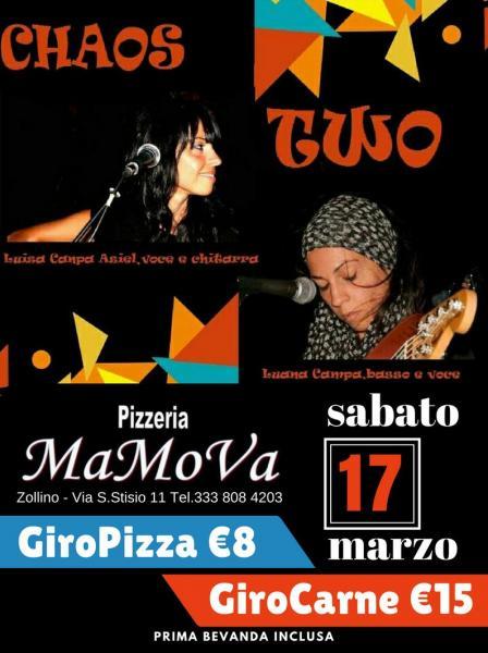 GiroPizza e GiroCarne + Musica Live - 17 marzo @Mamova Zollino