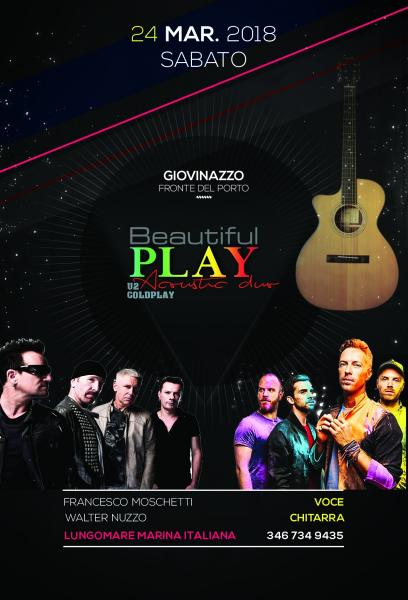 Beautiful Play U2 & Coldplay Acoustic Duo live Fronte del Porto Giovinazzo