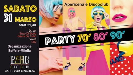 Sab 31 marzo Apericena e Discoclub (+30)