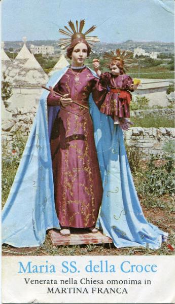Apertura chiesetta Madonna della Croce in via Cisternino e festa della Madonna