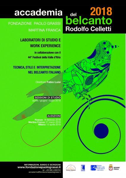 """Accademia del Belcanto """"Rodolfo Celletti"""" - Anno Accademico 2018"""