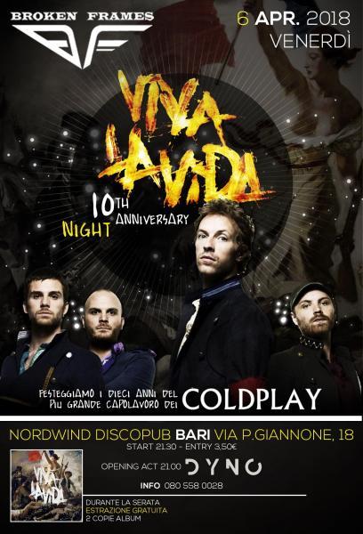 COLDPLAY - VIVA LA VIDA Night - BARI -