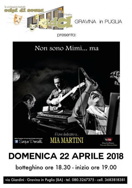 Non sono Mimì ma - Il LIVE dedicato a MIA Martini
