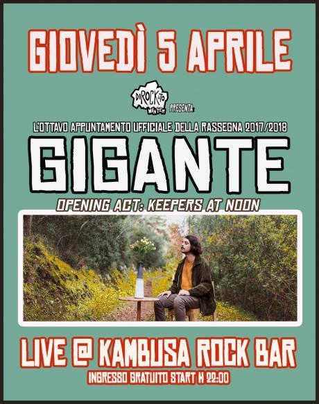 "Dirockato Winter presenta: ""Gigante live at Kambusa Rock Bar"""