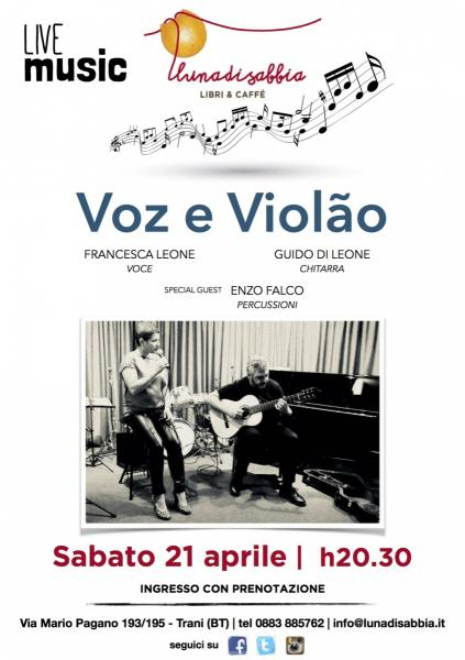 Voz e Violão - voce, chitarra e percussioni