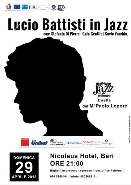 """Al Nicolaus Hotel di Bari """"Battisti in jazz"""" con la Jazz Studio Orchestra di Paolo Lepore"""
