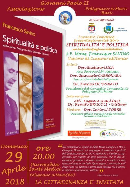 IncontroTematico presentazione del libro Spiritualità e Politica