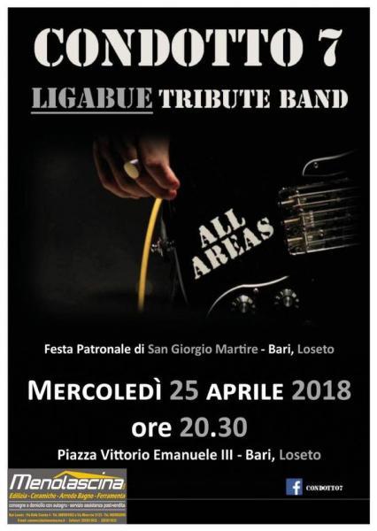 CONDOTTO7 Ligabue Tribute Band live - BARI, Loseto