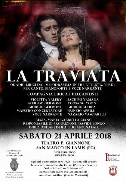 LA TRAVIATA di G. Verdi al teatro Giannone di San Marco in Lamis