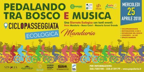 """Una """"Giornata Ecologica"""" con tanti eventi, il 25 aprile tra Manduria, bosco Cuturi e masseria Surani Grande"""
