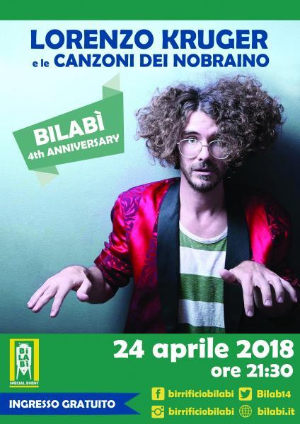 Bilabì 4th Anniversary - Lorenzo Kruger e le canzoni dei Nobraino