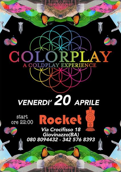 Colorplay a Coldplay experience live Rocket Pub Giovinazzo