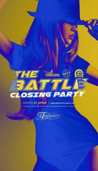 Sab 21 Apr Closing Party al TRAPPETO #Thebattle + cena con Pummarola Sound