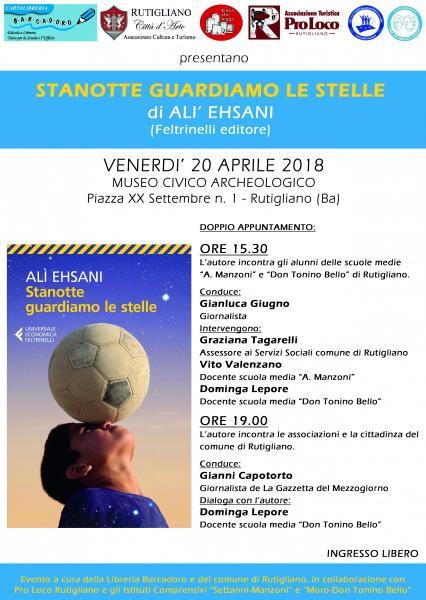 """""""STANOTTE GUARDIAMO LE STELLE"""" - Presentazione del libro di Alì Ehsani"""