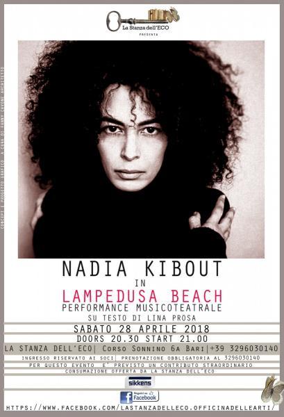 Nadia Kibout in Lampedusa Beach
