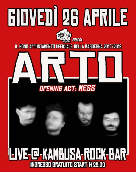 "Dirockato Winter presenta:""Arto + Mess live at Kambusa Rock Bar"""