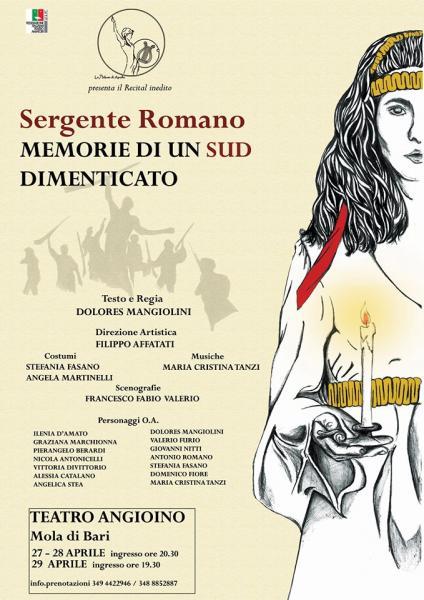 """""""Sergente Romano - Memorie di un Sud Dimenticato"""" al Teatro Angioino (Mola di Bari)"""