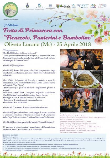 """""""7° FESTA DI PRIMAVERA CON FICAZZOLE, PANIERINI E BAMBOLINE"""""""