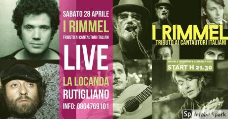 I Rimmel - Tributo ai Cantautori Live at La locanda a Rutigliano