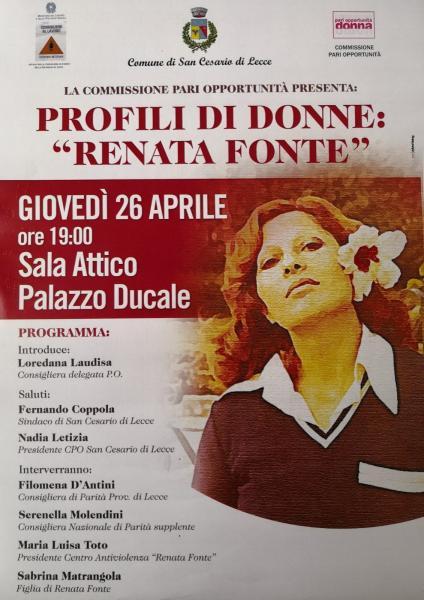 """Profili di Donne : """"Renata Fonte"""""""