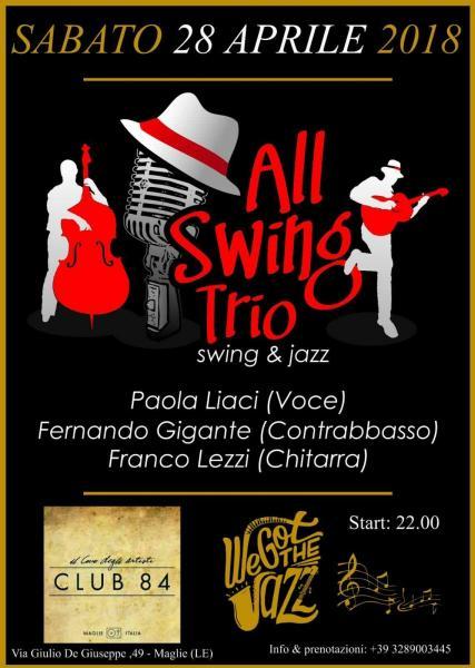 All Swing Trio al Club 84 di Maglie