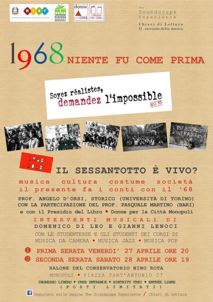 1968, niente fu come prima. Le Rivoluzioni del Sessantotto