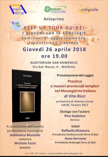"""Keep up tour guide! I Giovedì della Federagit. """"Province e maestri templari nel Mezzogiorno italiano"""""""