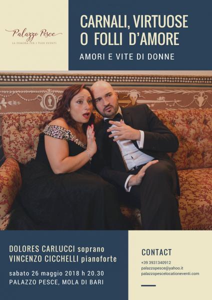 """Carnali, virtuose o folli d'amore – Amori e vite di donne"""