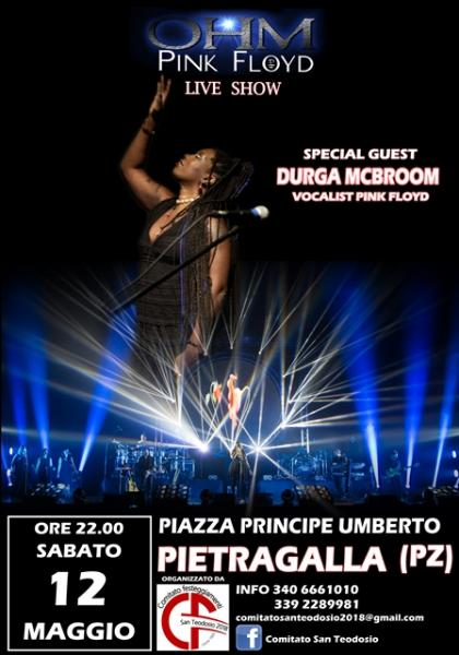 OHM PINK FLOYD SHOW – SPECIAL GUEST DURGA MCBROOM - 12.05.2018 - Pietragalla (PZ)