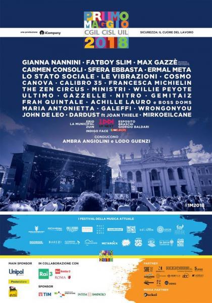 Concerto del Primo Maggio 2018 a Roma, programma completo