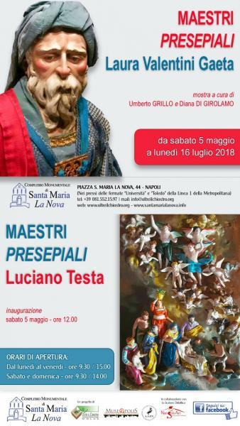 Maestri presepiali: Laura Valentini Gaeta e Luciano Testa