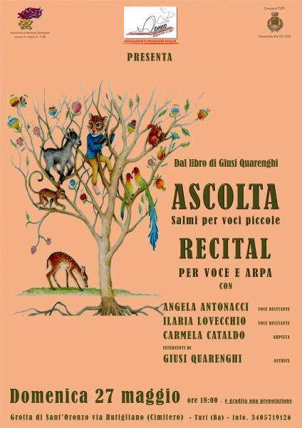 Recital: Ascolta, Salmi per Voci Piccole