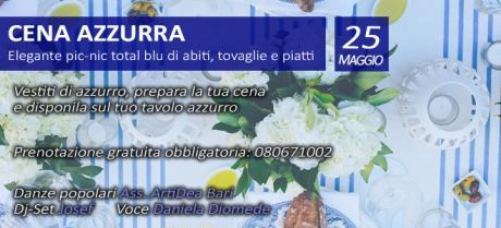 Cena azzurra nel Paese Azzurro, tra folk e tradizione