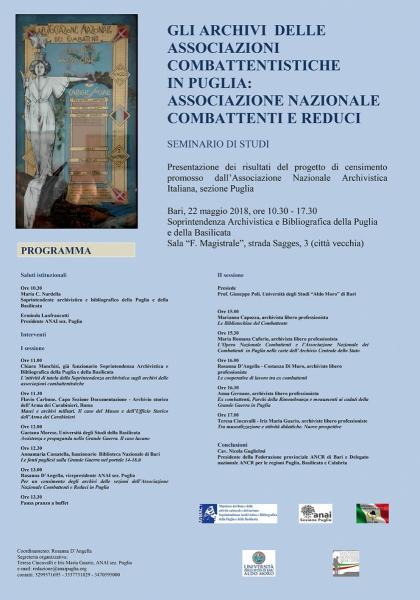 Gli Archivi  Delle Associazioni Combattentistiche in Puglia: Associazione Nazionale Combattenti e Reduci