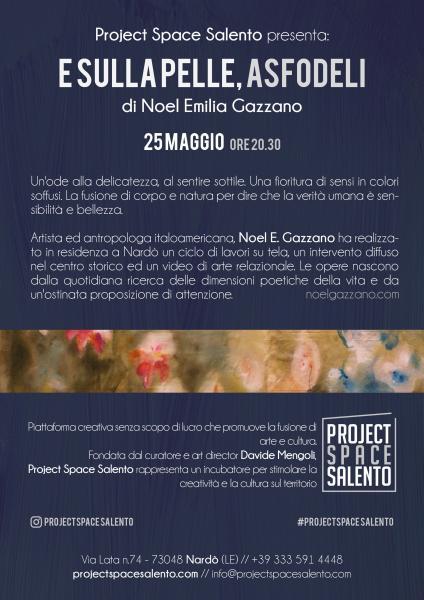 """Inaugurazione mostra """"E Sulla Pelle, Asfodeli"""" di Noel E. Gazzano"""