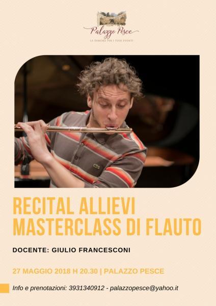 Recital Masterclass di flauto traverso