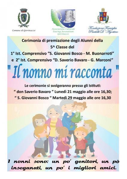 """TOURING JUVENATIUM – Progetto """"Il Nonno mi Racconta"""""""