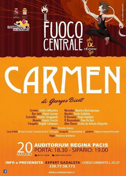 Opera e balletto la Carmen chiude la stagione lirica del Carro dei Comici  Il 20 maggio in scena  al Teatro Regina Pacis