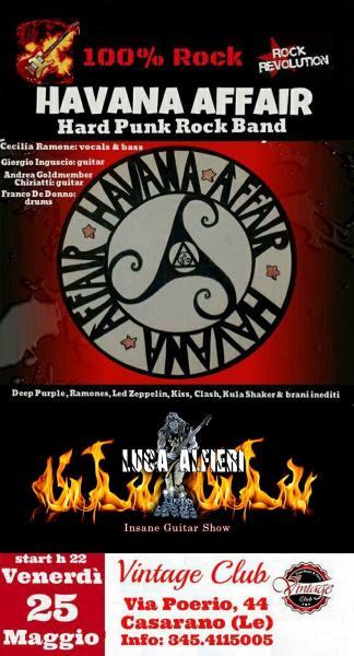 Live degli HAVANA AFFAIR Rock Band feat. Luca Kronium Alfieri