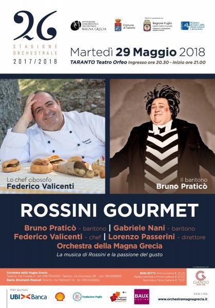 """Musica e gusto con """"Rossini Gourmet"""" - Orchestra ICO della Magna Grecia"""