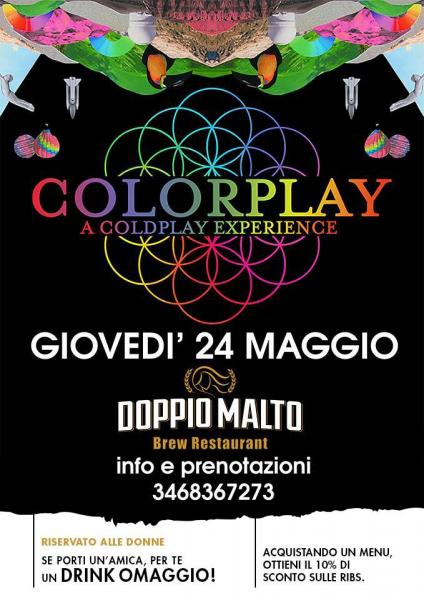 Colorplay a Coldplay experience live Doppio Malto Bari