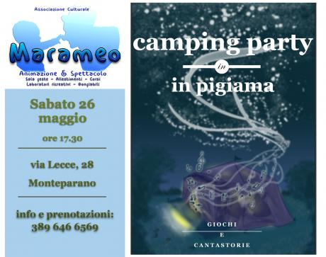 Camping Party in pigiama