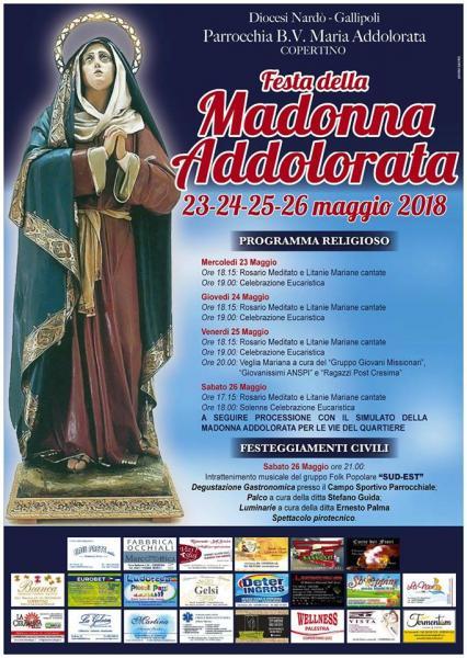 """Pizzica con il gruppo """"Popolare Sud Est"""" per i festeggiamenti di Maria SS. Addolorata"""