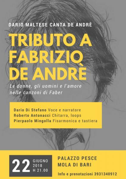 """Tributo a Fabrizio De Andrè: """"Le donne, gli uomini e gli amori nelle canzoni di Faber"""""""
