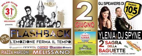 YLENIA E DJ SPYNE  SPETTACOLO MUSICALE CON RADIO 105 E FLASHBACK - 2 GIUGNO 2018 - SAGRA DELLA BAGUETTE -
