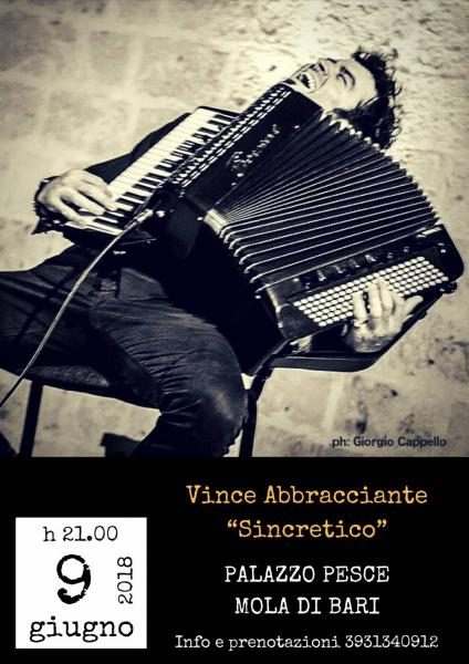 """Vince Abbracciante in """"Sincretico"""""""