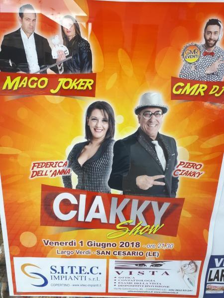 Piero Ciakky Show a San Cesario di Lecce