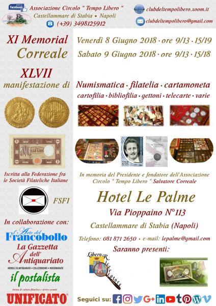 XI Memorial Correale – 8/9 Giugno 2018 – Castellammare di Stabia (Napoli)
